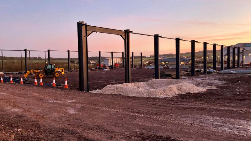 Steel Frame at The Bluestone Centre, Amesbury